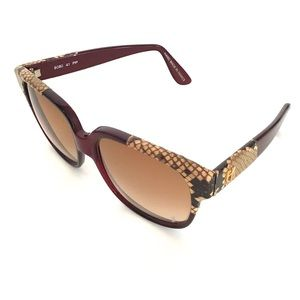 EMMANUELLE KHANH PARIS snake skin sunglasses